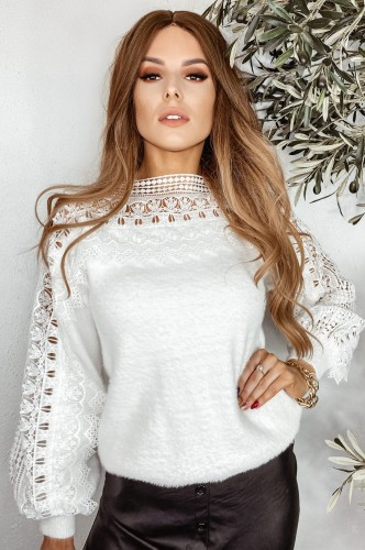 Sweter Cindy / White